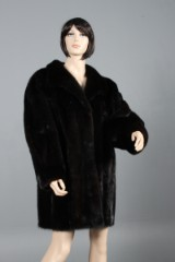Saga Superb Quality coat, Ranched Mink, size 44-46