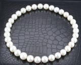 South Sea cultured pearl necklace with white saltwater. Pearl Ø approx. 12.15 -15.19 mm.