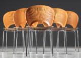 Nanna Ditzel. Trinidad chairs, model 3298, cherry wood  (6)