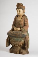 Buddha, Kultfigur, Holz, geschnitzt