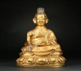 Munk af forgyldt bronze. Tibet 1800-tallet