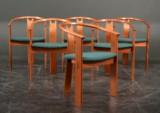 Landerholm & Lund. Seks armstole af massiv mahogni
