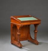 Victoriansk Davenport, skrivepult, af mahogni, England 1800-tallet