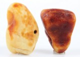 Pieces of Danish amber, weight 860 grams