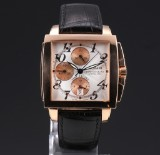 Gaspari 'Time Square' men's chronograph, 18 kt. pink gold, pale dial, 2000's