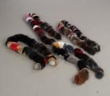 Fire Boaer af ræv. Farve: Multicolor. (4)