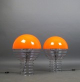 Verner Panton, a pair of table lamps, model Wire Lamp for Lüber (2)