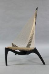 Jørgen Høvelskov. Harp chair, black-glazed ash