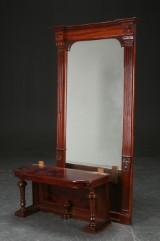 Stort spejl af mahogni med tilhørende konsol, 1800-tallets slutning (2)