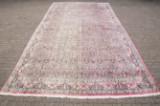 A large carpet, silk / cashmere on cotton warp