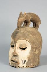 Africa. Yaka helmet mask.