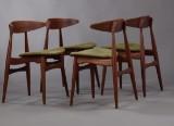 Hans J. Wegner. Four chairs, model CH-33 (4)