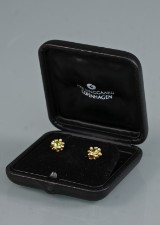 Ole Lynggaard. Flower Basket earrings with peridot and brilliant-cut diamonds
