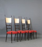 Aldo Tura, set of chairs from 1950s (4)