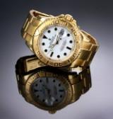 Rolex 'Yachtmaster'. Herreur i 18 kt. guld med hvid skive, ca. 2005