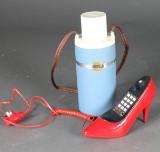 Termos samt bordstelefon, 1960-80-tal
