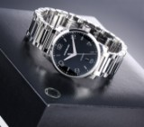 Montblanc 'Timewalker'. Men's watch in steel with black dial with date