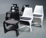 Steen Østergaard, seks stole, 'Modo Chair' med polstret sæde (6)
