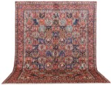 Carpet, a large figural Bakhtiari, 425 x 323