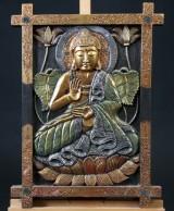 Væg relief med udskåret Shiva