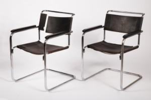Stahlrohr Sessel marcel breuer für thonet zwei freischwinger stahlrohr sessel