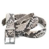 Laura B Collection - ´Lenny K´ bælte af slangeskind