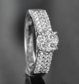 Diamond ring, approx. 1.07 ct.