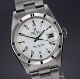 Rolex 'Date'. Men's watch, steel with white dial with date, c. 1978