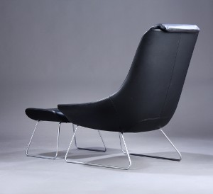 walter knoll 39 flow chair 39 med skammel 2. Black Bedroom Furniture Sets. Home Design Ideas