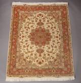 Täbriz med silke, Persien. Ca. 500.000 kn. pr. m2. Ca. 2005.