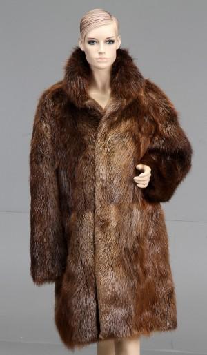 cce63843 Slutpris för Pelsjakke af brun bæver, herre