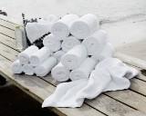Damask Collection, stor pakke håndklæder af Egyptisk bomuld, 650 gr/kvm, hvide (30)