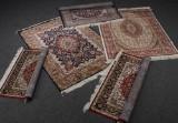Samling maskinvævede tæpper (5)