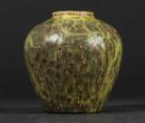 Axel Salto. Royal Copenhagen vase, solfatara glaze