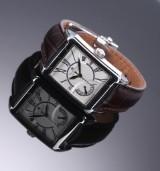 Maurice Lacroix 'Pontos Rectangulaire Reserve de Marche'. Men's watch, steel wtih silver-coloured dial, c. 2007