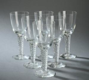 Lauritz.com - Glas - Holmegaard Glasværk. Glasbesætnig, Twist/Amager (6) - DK, Herlev, Dynamovej