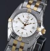 Breitling 'Callistino' ladies' watch, 18 kt. gold, steel, white dial, 1990's