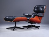 Charles Eames. Lounge Chair, cherry, with ottoman (2)
