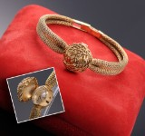 Omega 'Lady Bracelet'. A rare vintage ladies watch, 18 kt. gold with box, c. 1960