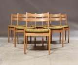 Slagelse møbelværk. Sæt spisestole af egetræ (6)
