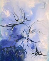 Bozena Ossowski. 'Blue Dream'. Olie på lærred