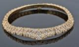 Handmade 18K gold diamond necklace appr. 152.Gr - apx. 13.00ct