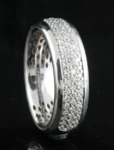 Handmade diamond ring in 18kt approx.0.62ct