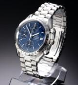 Omega 'Speedmaster'. Herrenchronograph aus Stahl mit blauem Zifferblatt, ca. 1998