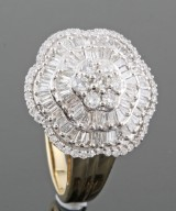Diamond ring in 14kt approx. 1.20ct