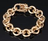Anchor bracelet in 14 kt. gold, 107 g.