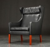 Børge Mogensen. Wing Chair, model 2204. Reupholstered