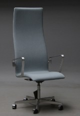 Arne Jacobsen. High-backed Oxford office chair, model 3242 with certificate