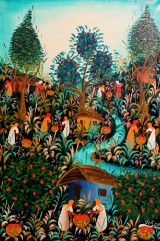 Joseph L, Ölgemälde, 'Abstrakte Landschaft'