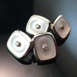 Dobbeltknapper/manchetknapper, tofarvet (2)